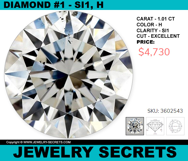Diamond SI1 H Excellent 1 CT Round
