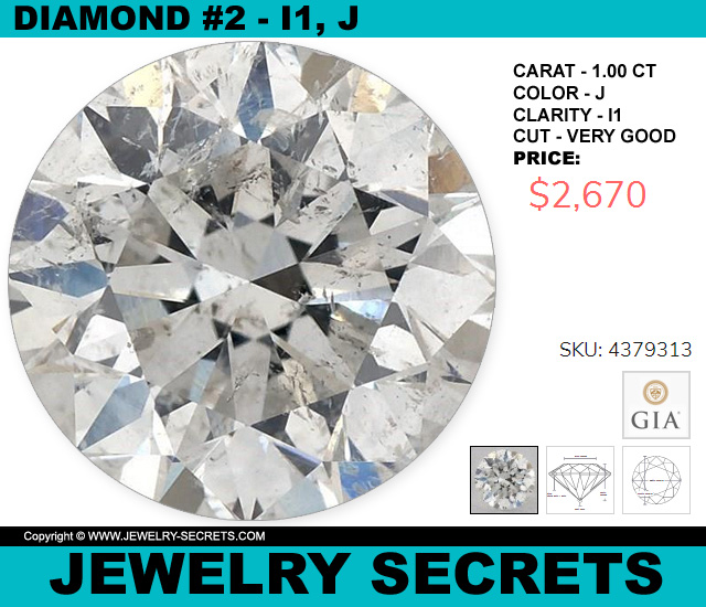 Diamond I1 J Very Good 1 CT Round