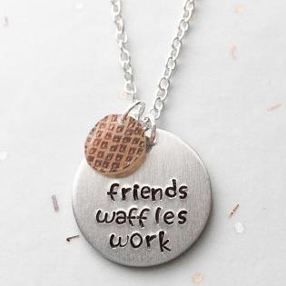 Friends Waffles Work Pendant