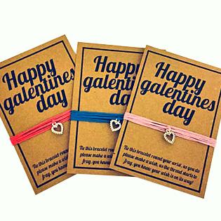 Happy Galentines Day Wish Bracelets