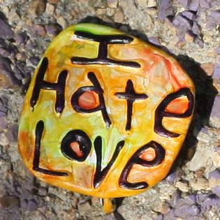 I Hate Love Lapel Pin