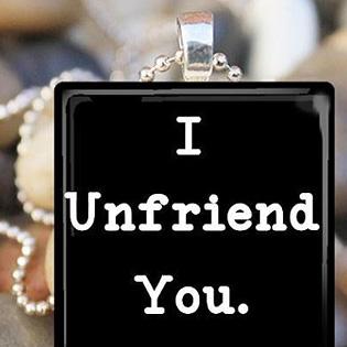 I Unfriend You Pendant