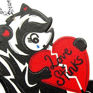Love Stinks Skunk Pendant