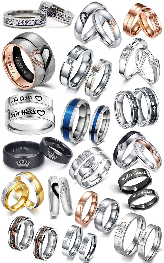 Matching Couples His Hers Wedding Bands