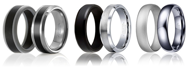 Mens Silicone And Wedding Ring Set