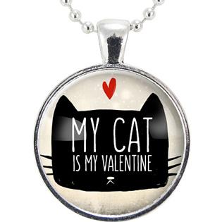 My Cat Is My Valentine Pendant