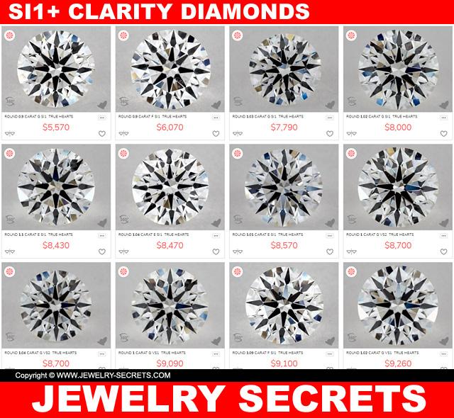 SI1 Or Higher Clarity Diamonds