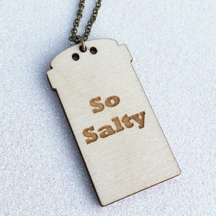 So Salty Pendant Necklace