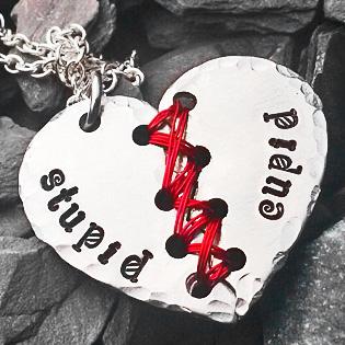 Stupid Cupid Heart Pendant