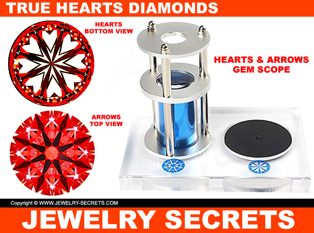 True Hearts Diamonds Hearts And Arrows Pattern
