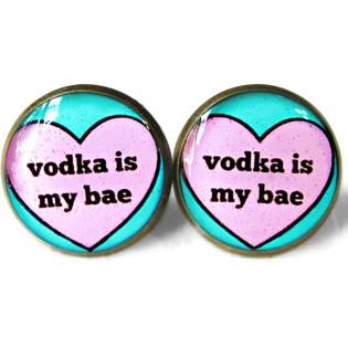 Vodka Is My Bae Earrings