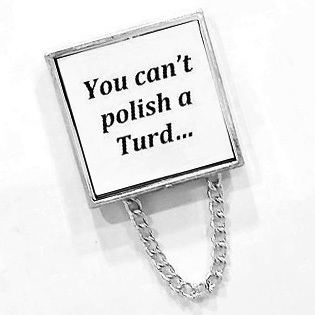 You Cant Polish A Turd Brooch Pin