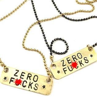 Zero Fs Necklaces
