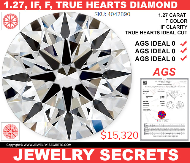 Just About The Most Perfect Diamond Ever IF F True Hearts AGS Triple 0