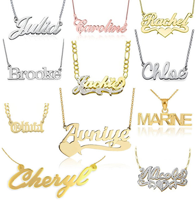 Classic Traditional Name Pendants