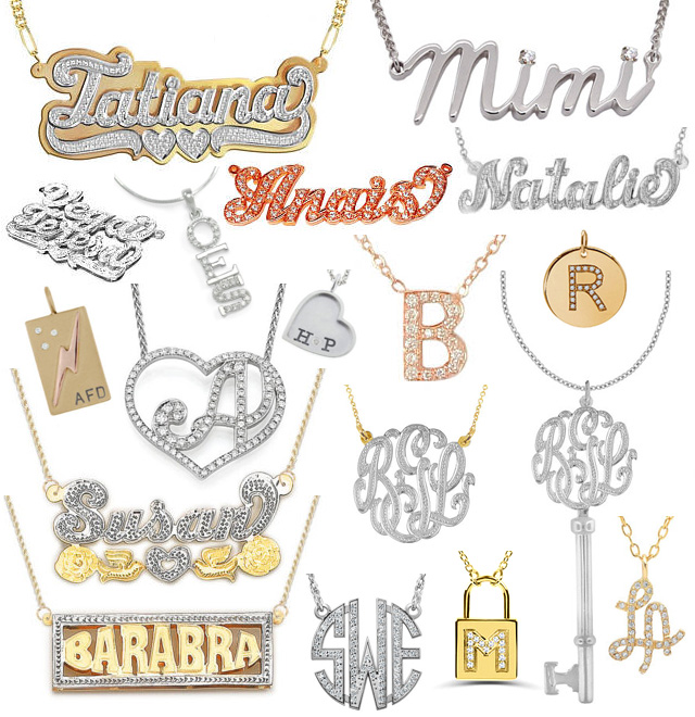 Diamond Name Pendants