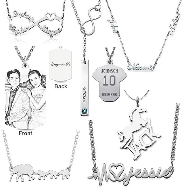 Fun And Different Name Pendant Necklaces