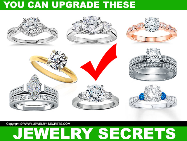Mountings you can upgrade with a bigger diamond