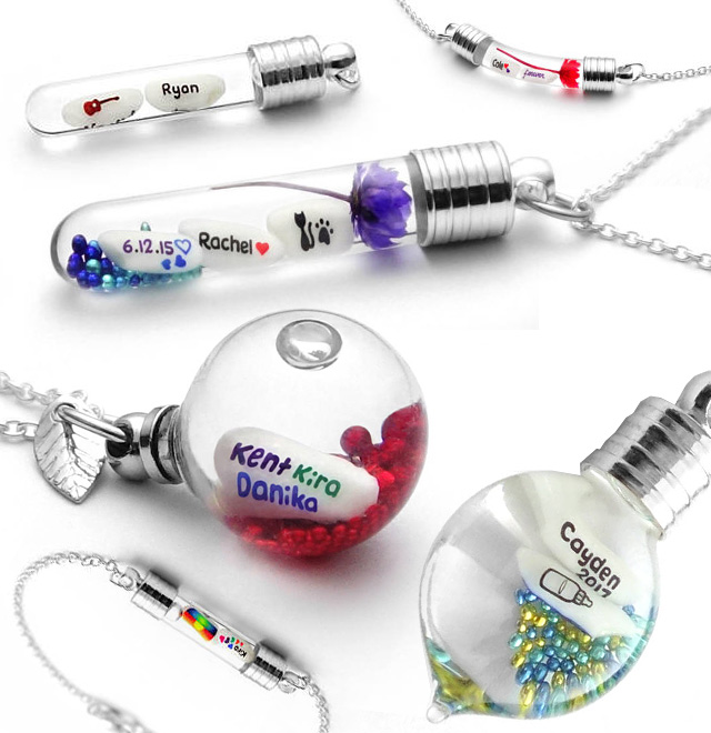 Name Written On Rice Pendants