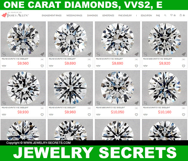 One Carat Diamonds VVS2 E