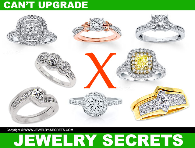 Rings you cant upgrade the center diamond