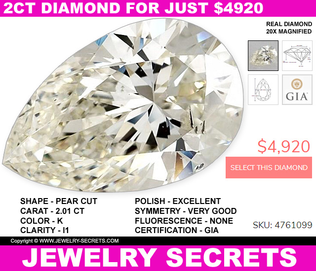 2 carat pear diamond for less than 5 thousand dollars