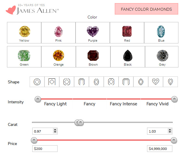Cheap Fancy Color Diamond Options