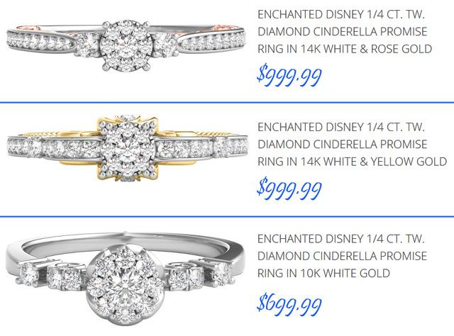Cinderella Promise Rings