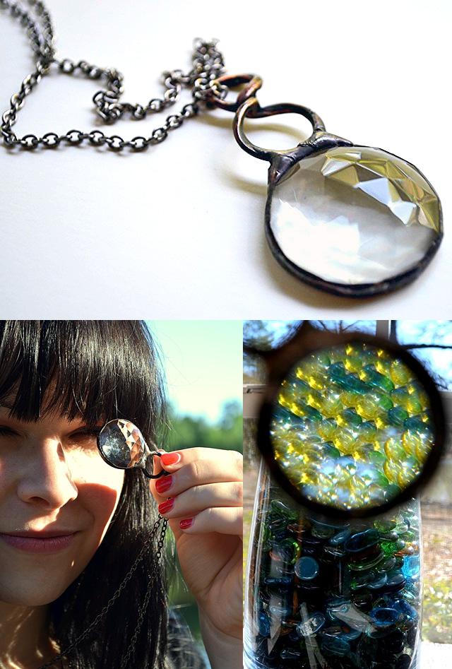 Handmade Psychedelic Kaleidoscope Necklace Pendant
