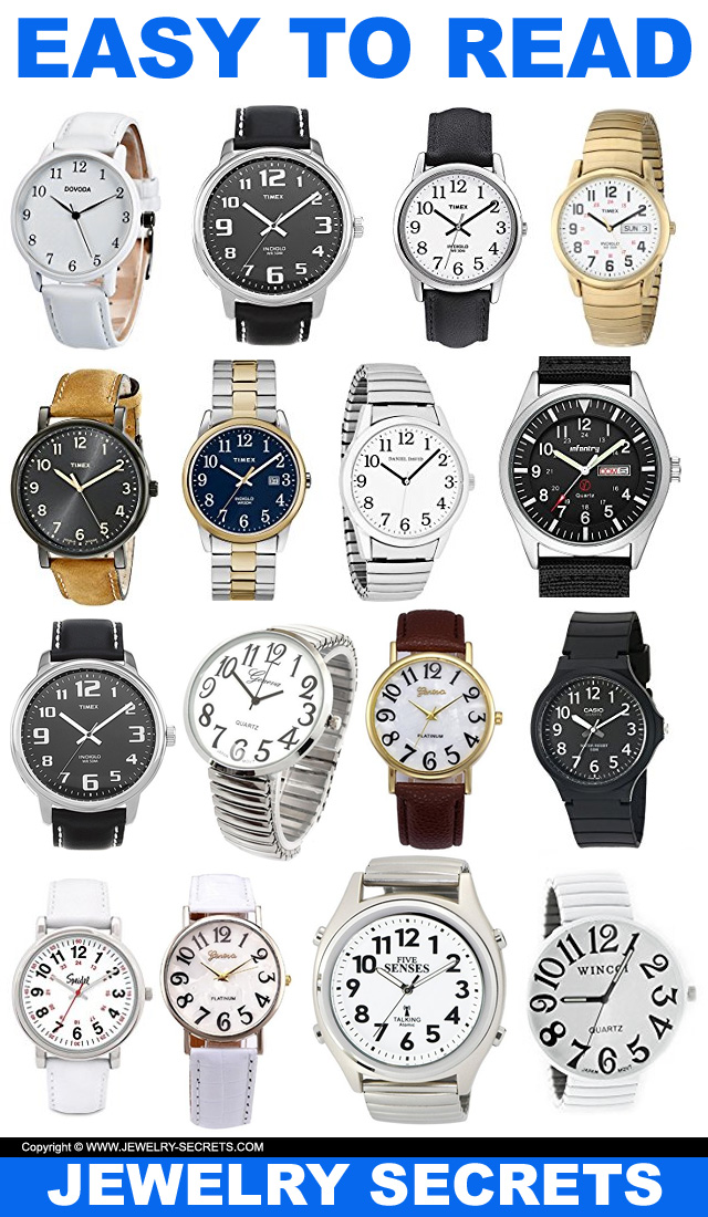 easy-to-read wrist watches