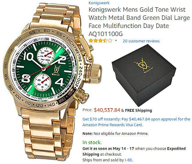 Most Expensive Hilarious Watch on Amazon