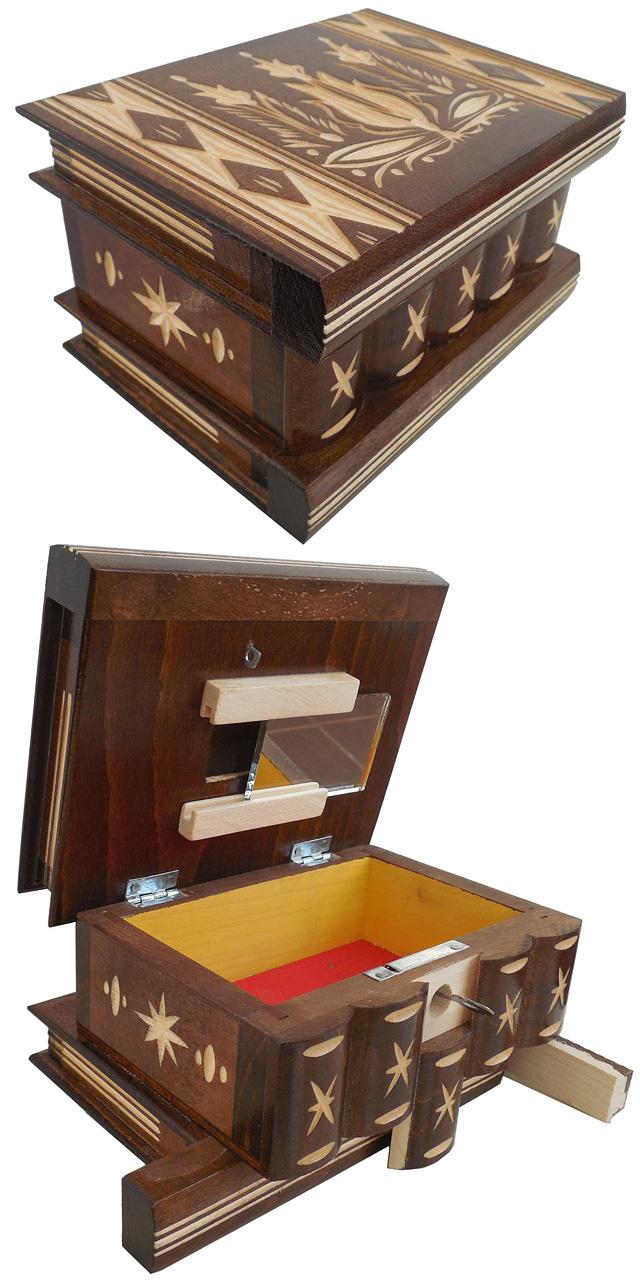 Hidden Jewelry Secret Box Compartment