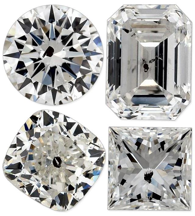 Huge Black Spots in Diamonds