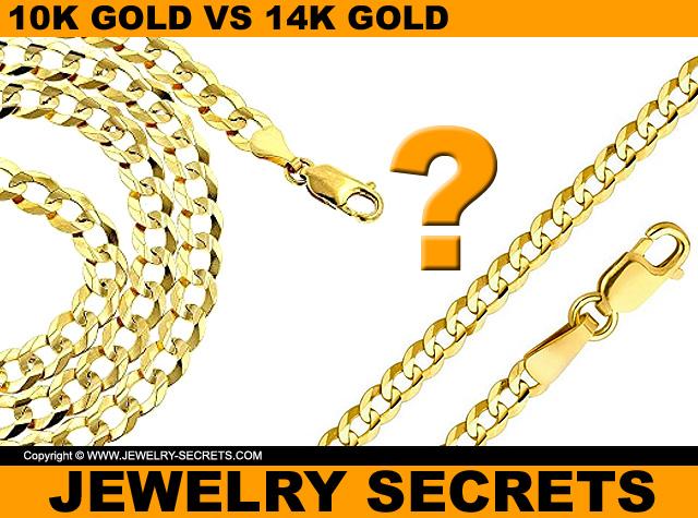 Which chain is 10k gold and which chain is 14k gold