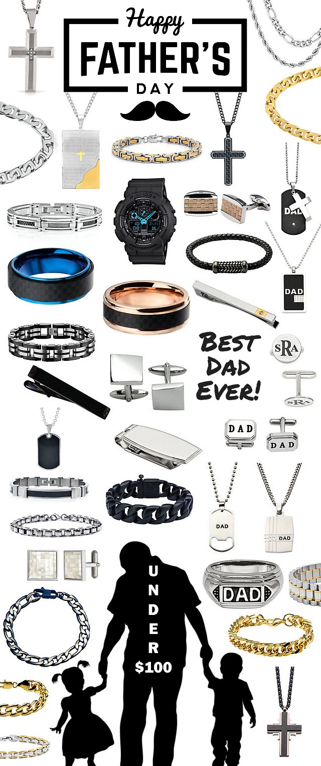 Great Fathers Day Jewelry Gifts Under 100