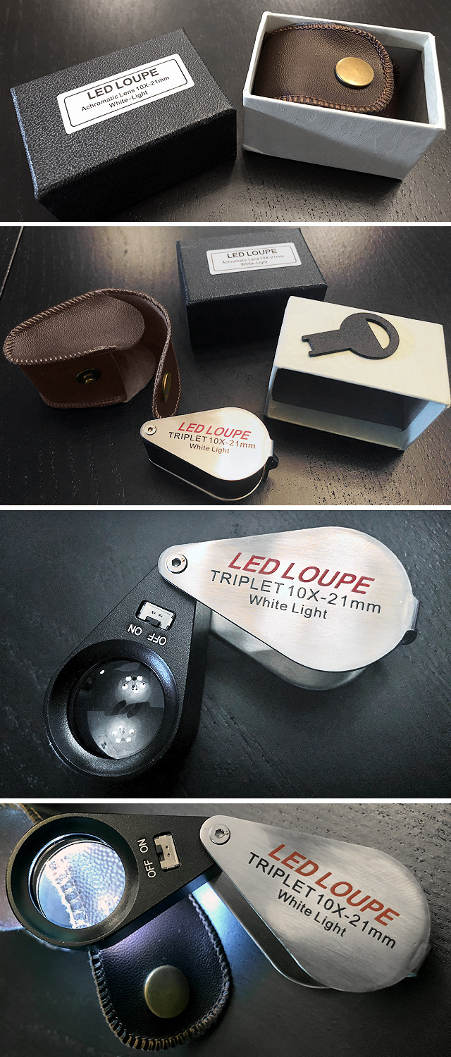 Light-Up Jewelers Loupe Unboxed