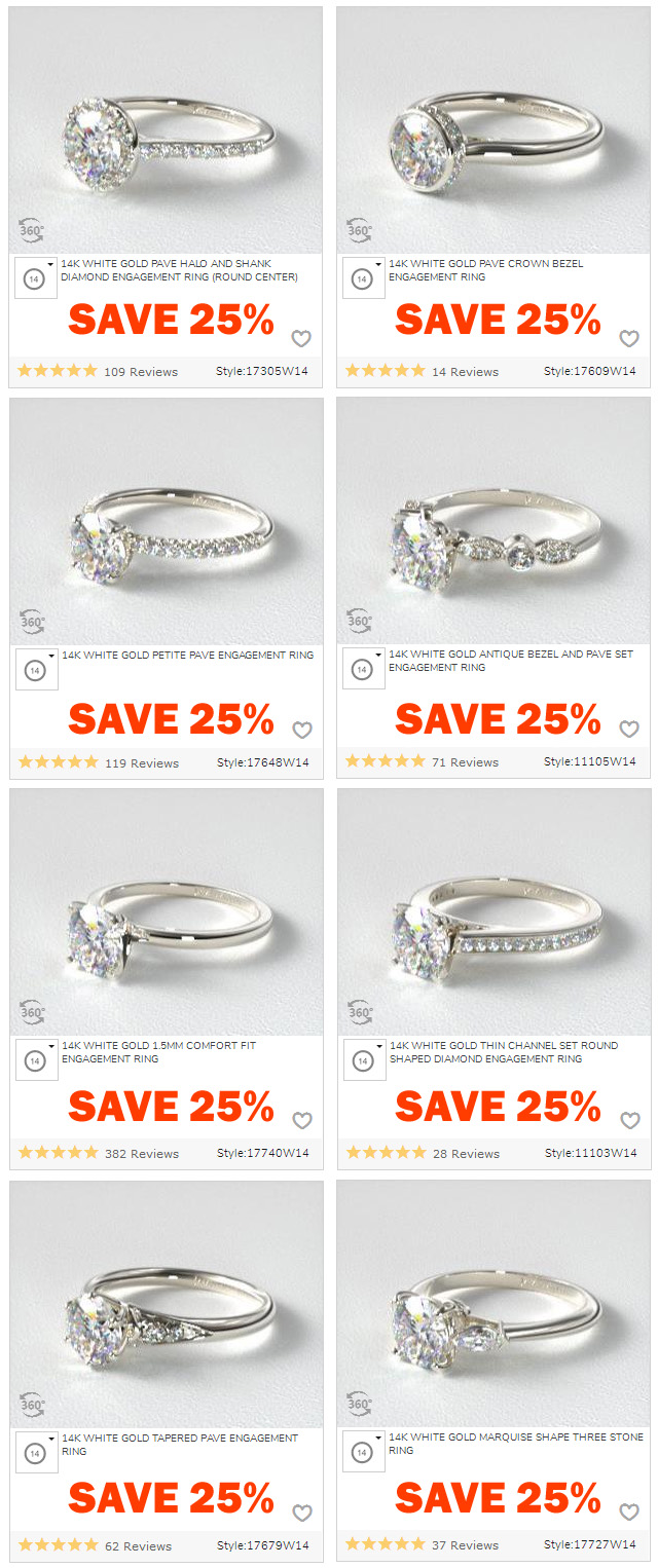 Solitaire Pave Halo Threee-Stone Mountings