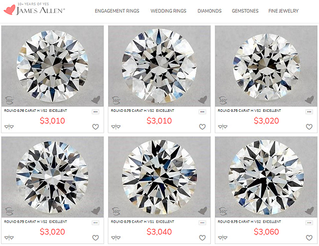 Genuine Diamonds VS Lightbox Diamonds