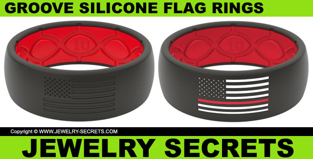 Groove Silicone America Flag Rings