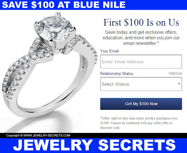 Save 100 Dollars At Blue Nile