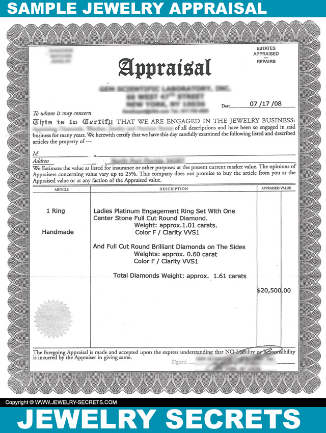 What Is A Jewelry Appraisal