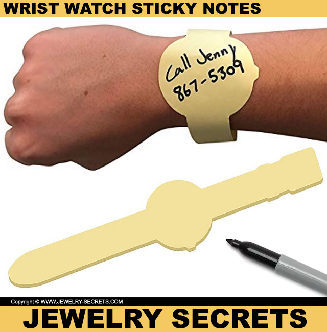 Wrist Watch Sticky Notes
