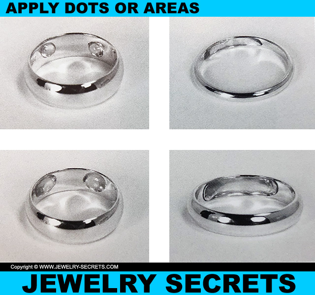 Apply Ring Sizer Resin Dots Or Entire Areas