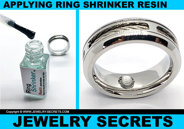 Applying Ring Shrinker Resin To Ring