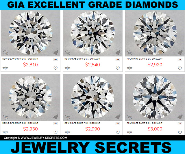 GIA Excellent Grade Diamonds