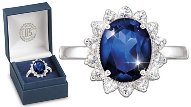 Kate Middleton Princess Diana Sapphire Diamond Engagement Ring Replica