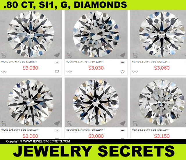 SI1 G Diamonds For 3000