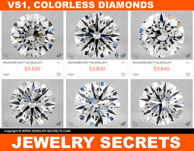 Best VS1 Colorless Diamonds
