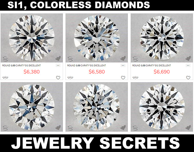 GIA Certified Diamonds SI1 Colorless