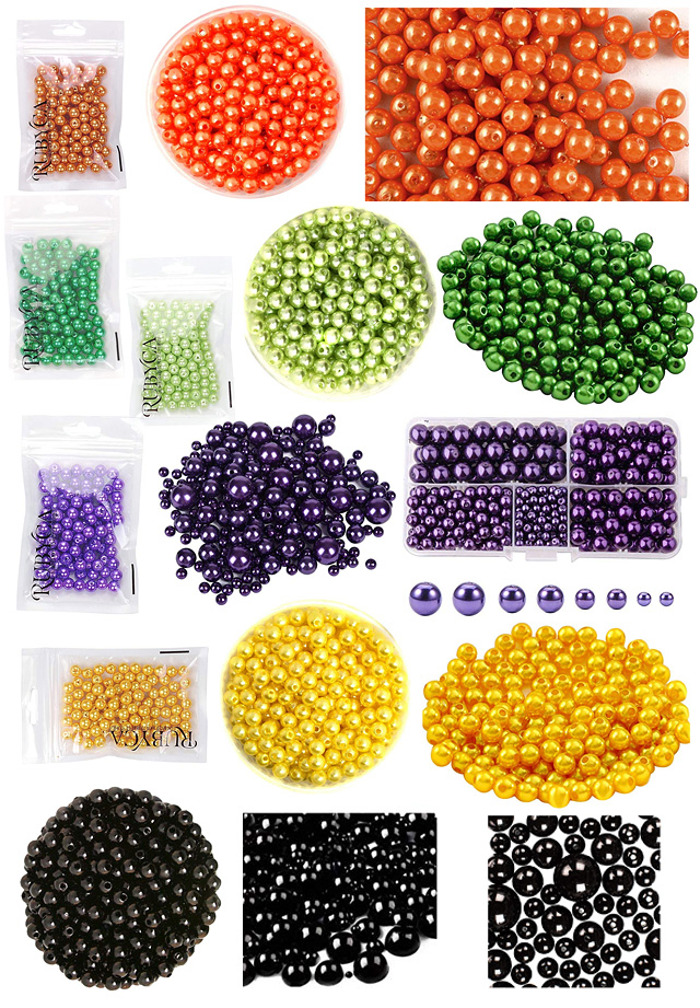 Halloween Pearl Beads Colors